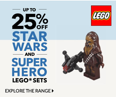 Explore our star wars and superhero sets and get up to 25% our sets, now at George.com