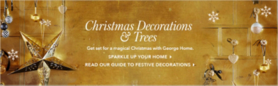 Deck you home in a gorgeous range of Christmas decorations at George.com