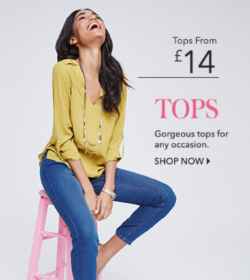 Shop a range of women's tops at George.com