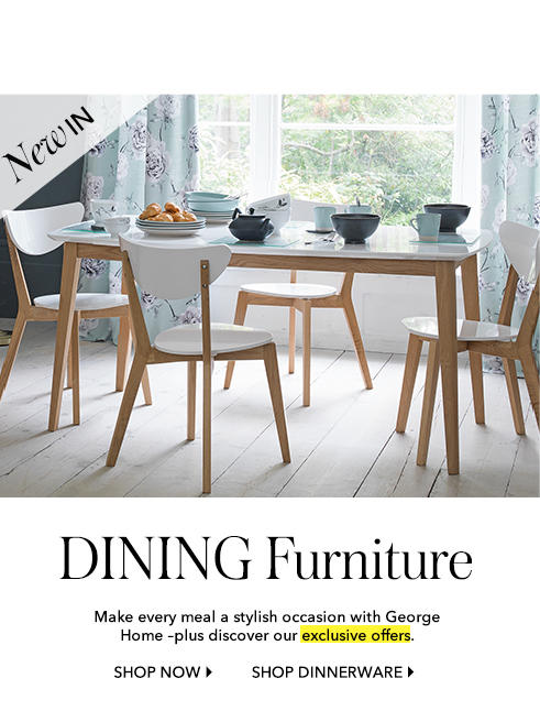Shop dining furniture at George.com