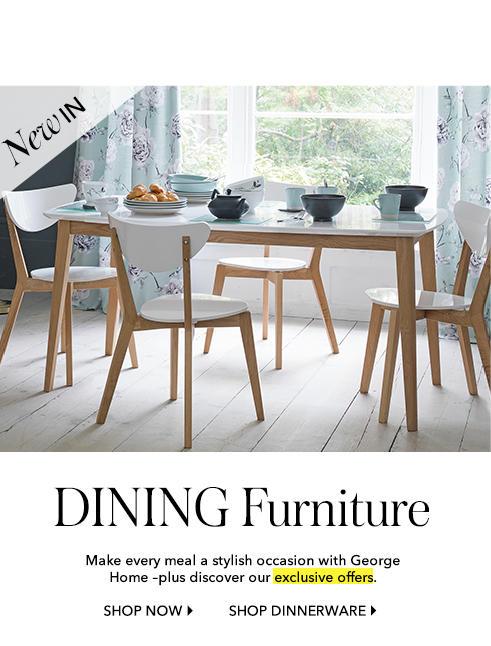 Shop dining furniture at George.com