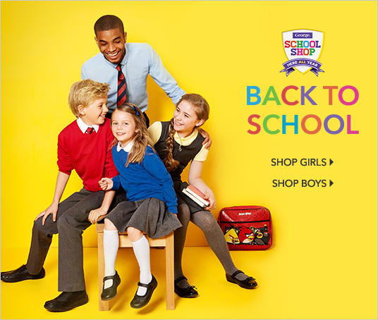 Shop girls' and boys' back to school at George.com