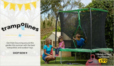 Make it a summer of fun with great value kids' garden trampolines from George at Asda, with free click and collect and free in-store returns
