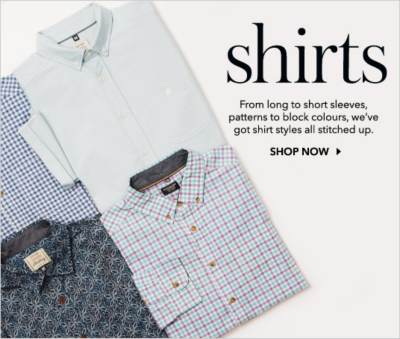 From slim fit to regular, find a hugh selection of men's shirts now at George.com