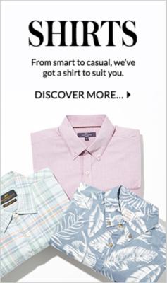 Shop men's shirts at George.com