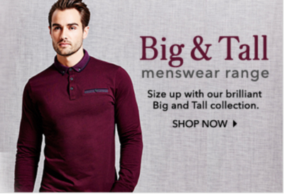 Shop the big and tall range at George.com