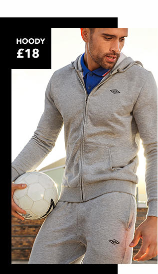 Explore Umbro hoodies for men at George.com