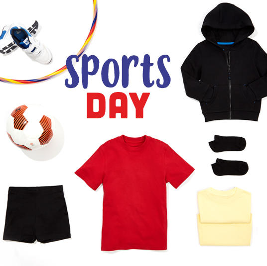 Get them set for sports day with our range of sportswear at George.com