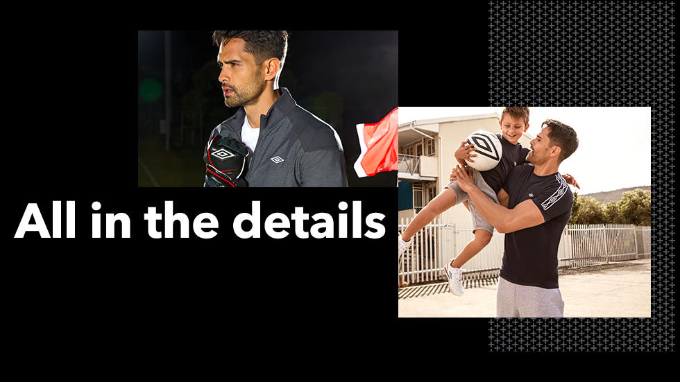 Find out more about what the Umbro collection consists of at George.com