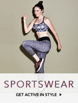 Pick stylish sports bra, athletic shorts and leggings, trainers, socks and more sportswear for women at George.com
