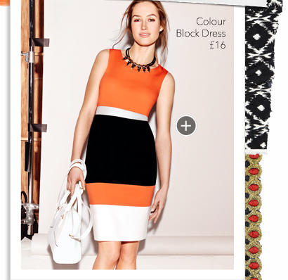 This colour block dress from is just 16 and for George at asda wedding dresses