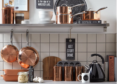 Add some Nordic charm to your kitchen with copper accessories from George.com
