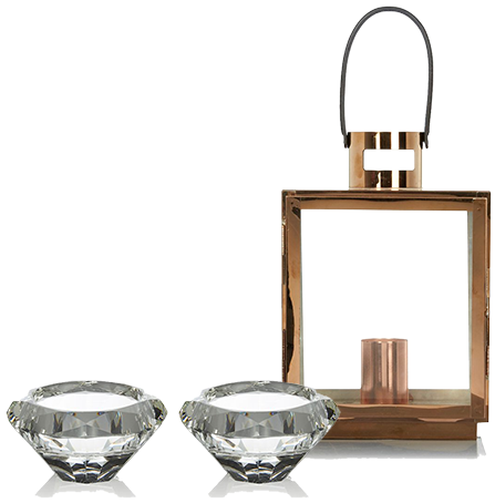 Lift your space with sleek candle holders at George.com