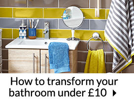 How to transform your bathroom under £10
