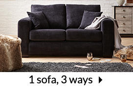 1 sofa, 3 ways
