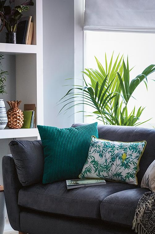 Create a serene living room environment with printed cushions and accessories from our Botanical trend at George.com