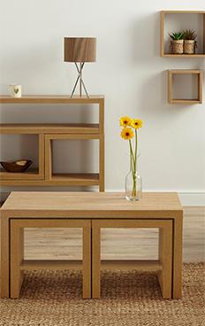 Dark Oak Leighton Living Room Furniture