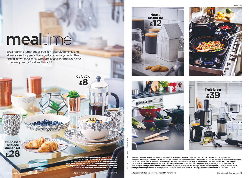 Big on breakfasts or leisurely lunches? Shop the home catalogue and make the most of meal times.