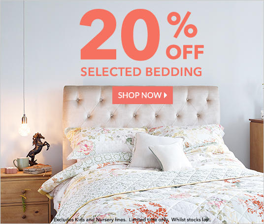 Shop 20% off selected bedding at George.com