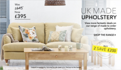 Shop our incredible range of furniture, all with UK made upholstery now at George Home