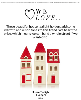 Pick from a range or tea light holders and other home accessories at George.com