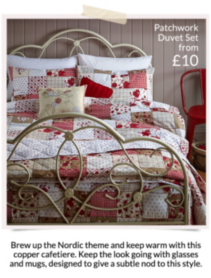 Shop a range of rustic inspired and patchwork bedding at George.com