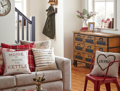 Shop a range of gorgeous rustic style cushions  at George.com