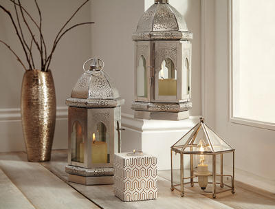 Add some eastern elegance to your home with our gorgeous gold lanterns and vases, only from George Home at George.com