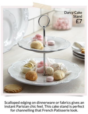 Shop a range of gorgeous accessories from plates to cake stands at George at Asda