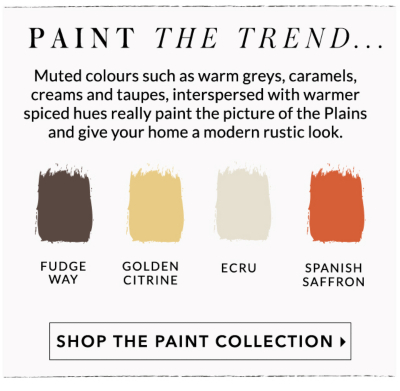 Discover a range of paints for your home in a range of different colours from white, cream to Spanish saffrom at George.com