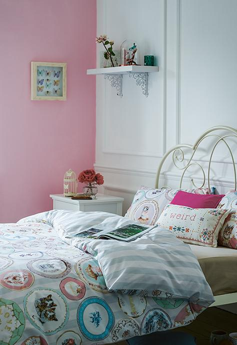 Add a touch of nostalgia to bedroom settings with blush duvet sets at George.com
