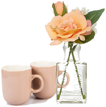 Mix and match with pastel coloured dinnerware and house plants for a vintage inspired kitchen at George.com