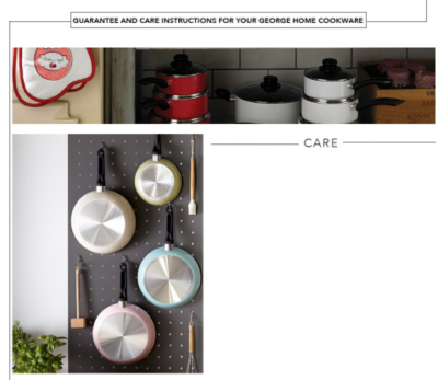 Discover a range of coloured pots and pans with George.com's Cookware buying guide