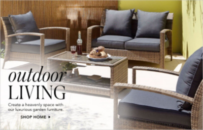 Enjoy your garden in style this summer with outdoor furniture from George.com, with outdoor sets, bistro sets, garden chairs and patio furniture plus free click and collect and free in-store returns