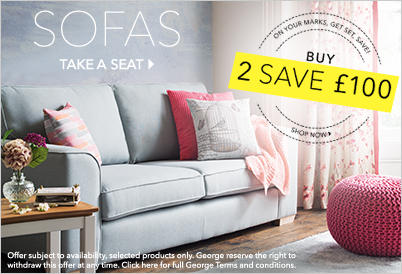 Find out about the great range of sofa bundle offers at George.com