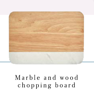With marble and wood, this chopping board will make any home look on-trend