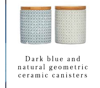 Ensure nothing less than stylish storage with our ceramic canisters