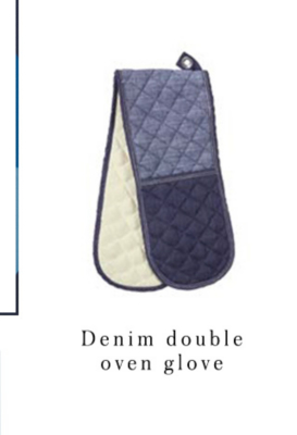 Make cooking stylish with our chic denim double oven glove