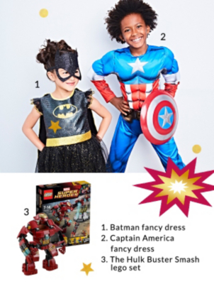 Wow your little superheroes this Christmas with our awesome character outfits and accessories at George.com