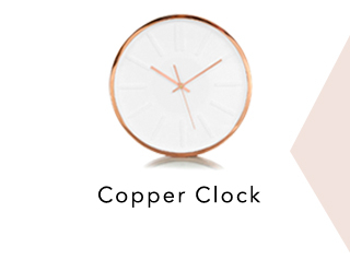 Add a hint of copper to pull the Time Out look together at George.com