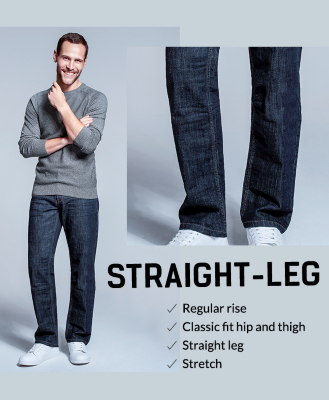 Treat your wardrobe to a classic with our straight-leg jeans at George.com