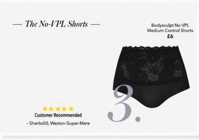 Discover women's no VPL shorts and control shapewear now at George.com