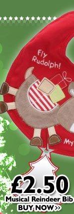 Musical Reindeer Bib £2.50