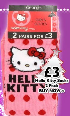 Hello Kitty Socks - 2 Pack £3