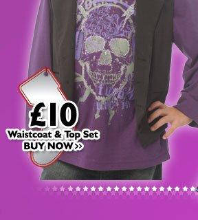 Waistcoat & Top Set £10