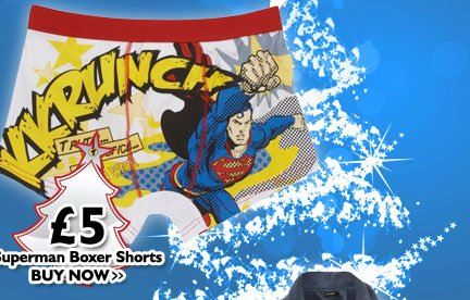 Superman Boxer Shorts £5
