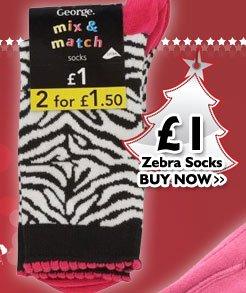 Zebra Socks £1