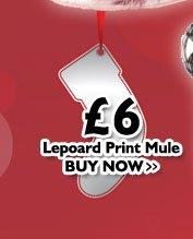 Leopard Print Mule £6