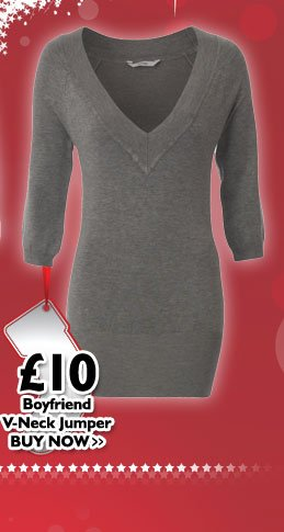 Boyfriend V-neck Jumper £10