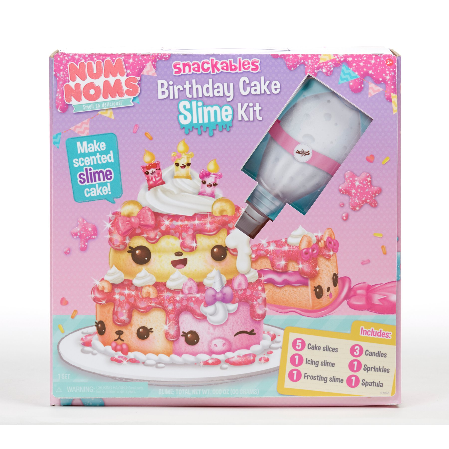 Num Noms Snackables Birthday Cake Slime Kit